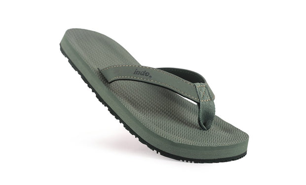 Grom's Flip Flops Leaf - Lightweight, durable, waterproof, comfortable. Sustainably made vegan shoes using natural rubber and recycled tires