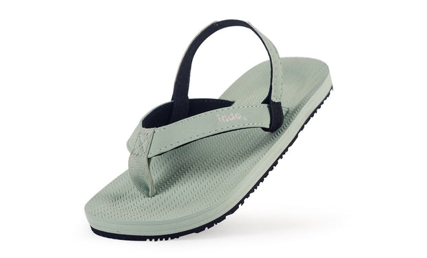 Toddler's Flip Flops Light Leaf - Lightweight, durable, waterproof, comfortable. Sustainably made vegan shoes using natural rubber and recycled tires