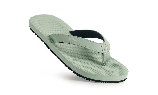 Grom's Flip Flops Light Leaf - Lightweight, durable, waterproof, comfortable. Sustainably made vegan shoes using natural rubber and recycled tires