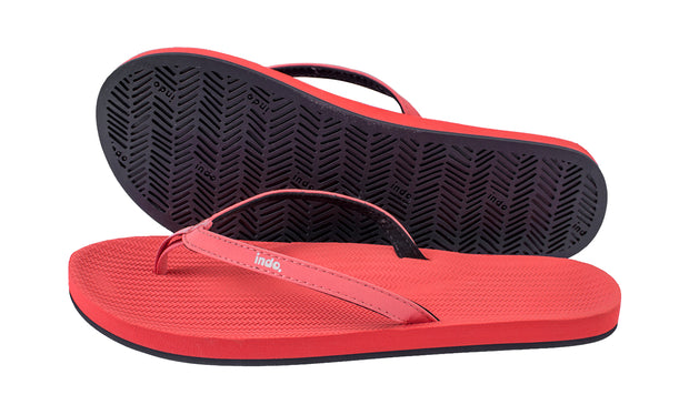 Women's Flip Flops- Coral - LTD EDT