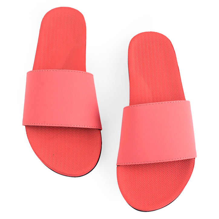 + ON SALE + Women's ESSNTLS Slides - Coral - Ltd Edt