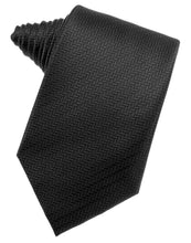 Black Herringbone Necktie