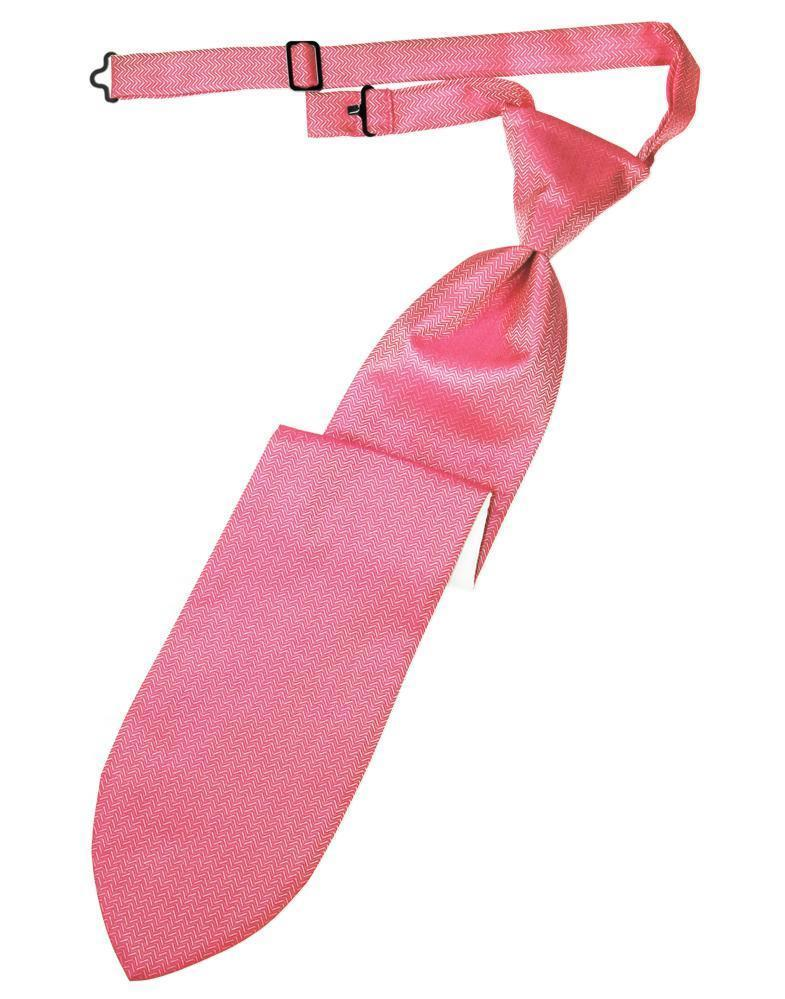 Bubblegum Herringbone Kids Necktie