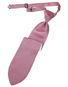 Rose Herringbone Kids Necktie