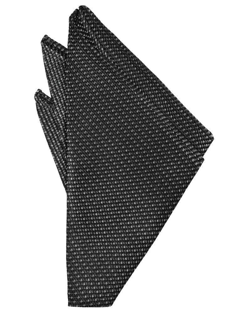 Asphalt Silk Weave Pocket Square