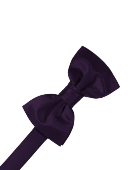 Amethyst Luxury Satin Bow Tie