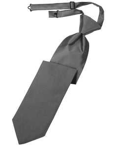 Charcoal Luxury Satin Necktie