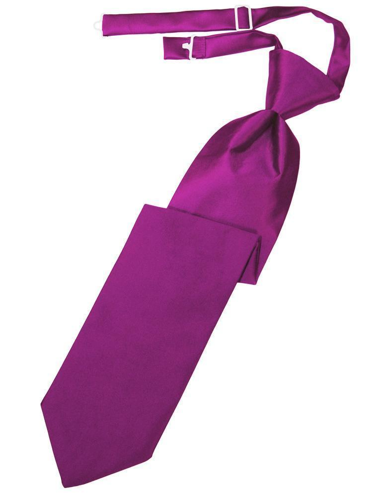 Fuchsia Luxury Satin Kids Necktie