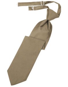 Latte Luxury Satin Kids Necktie