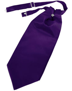 Purple Solid Satin Kids Cravat