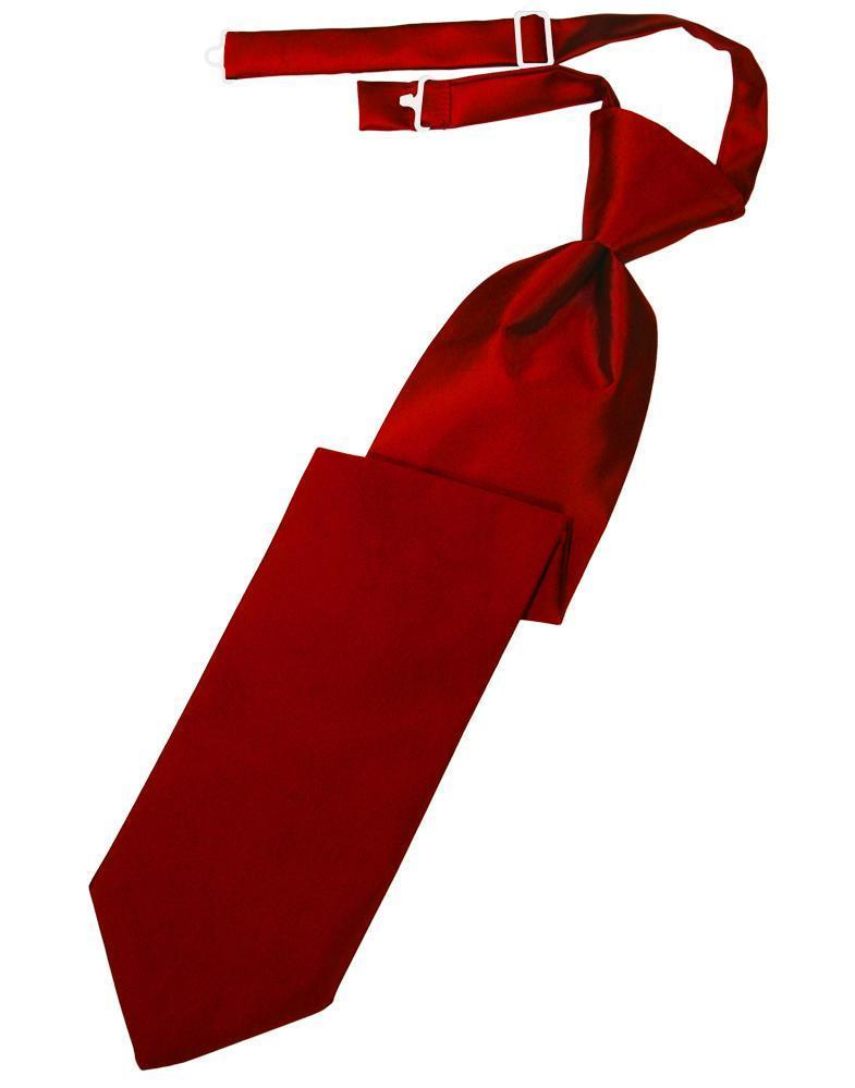 Scarlet Luxury Satin Kids Necktie