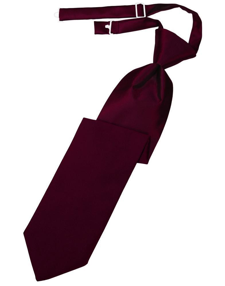 Wine Luxury Satin Kids Necktie