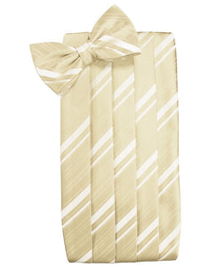 Bamboo Striped Satin Cummerbund