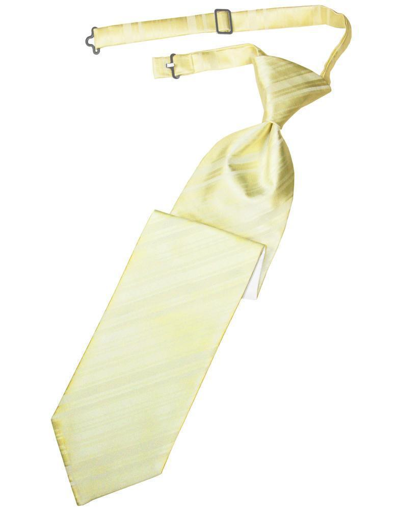 Banana Striped Satin Kids Necktie