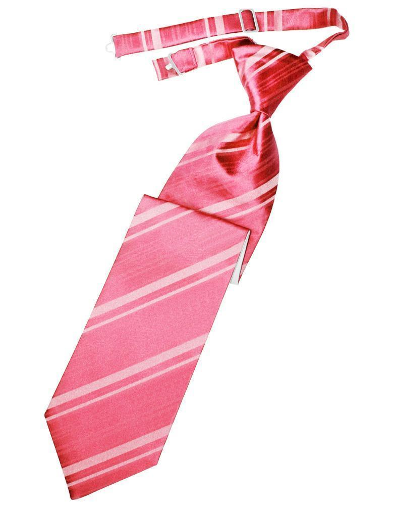 Bubblegum Striped Satin Kids Necktie