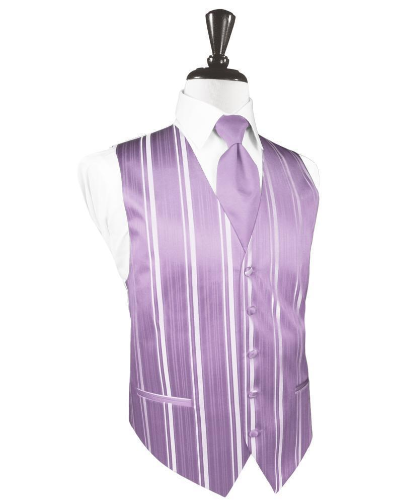 Heather Striped Satin Tuxedo Vest