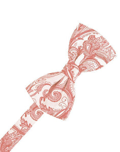 Coral Tapestry Bow Tie