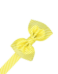 Lemon Venetian Kids Bow Tie