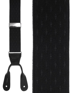 """Black Petite Diamonds"" Suspenders"