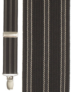 """Black Stripe"" Suspenders"