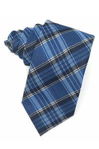 Blue Madison Plaid Necktie