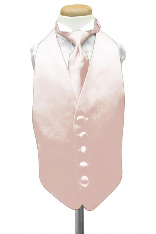 Blush Luxury Satin Kids Tuxedo Vest