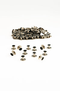Black & Silver Studs (144 pieces)