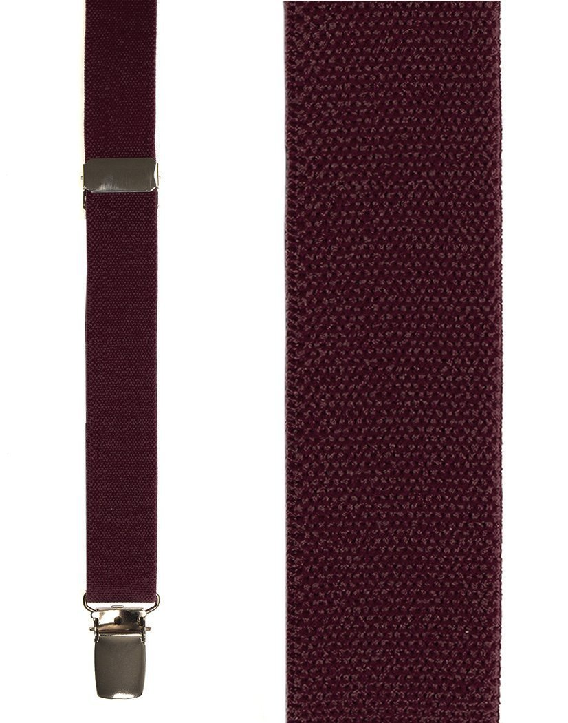 Kids Burgundy Oxford Suspenders