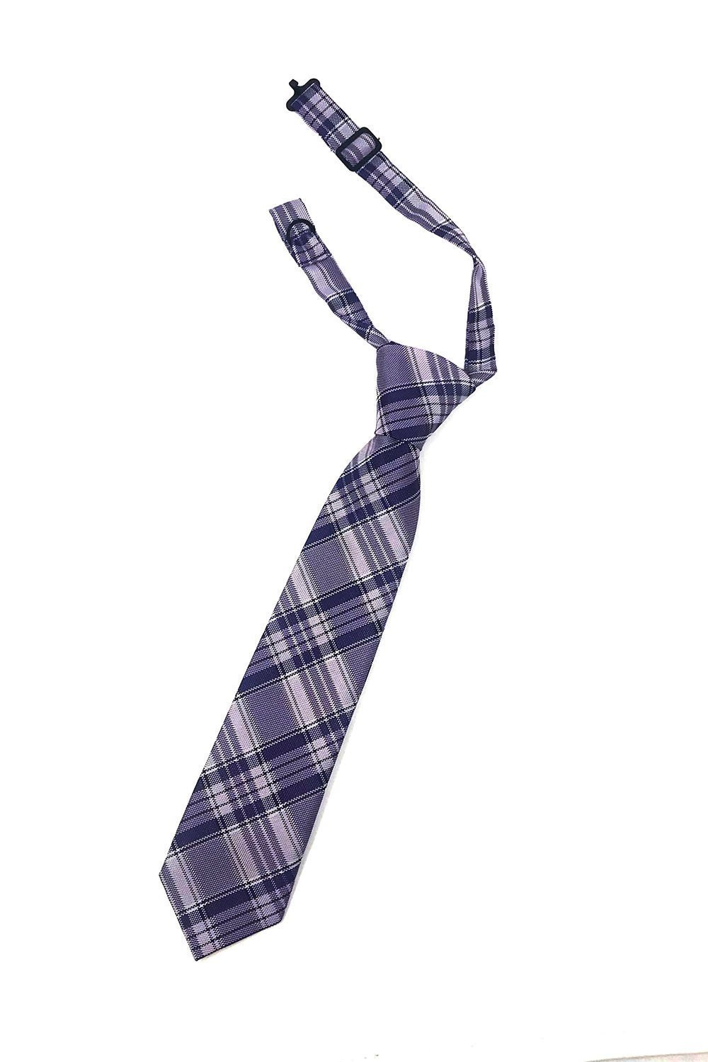 Purple Madison Plaid Kids Necktie