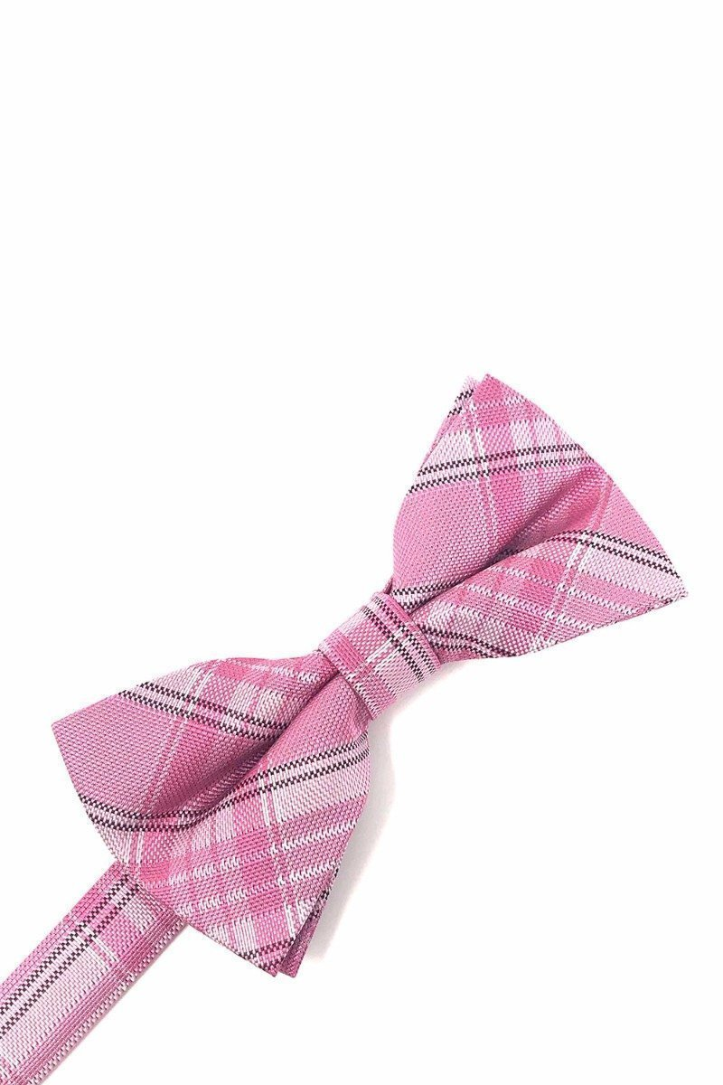 Pink Madison Plaid Bow Tie