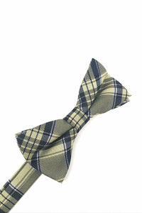 Yellow Madison Plaid Bow Tie
