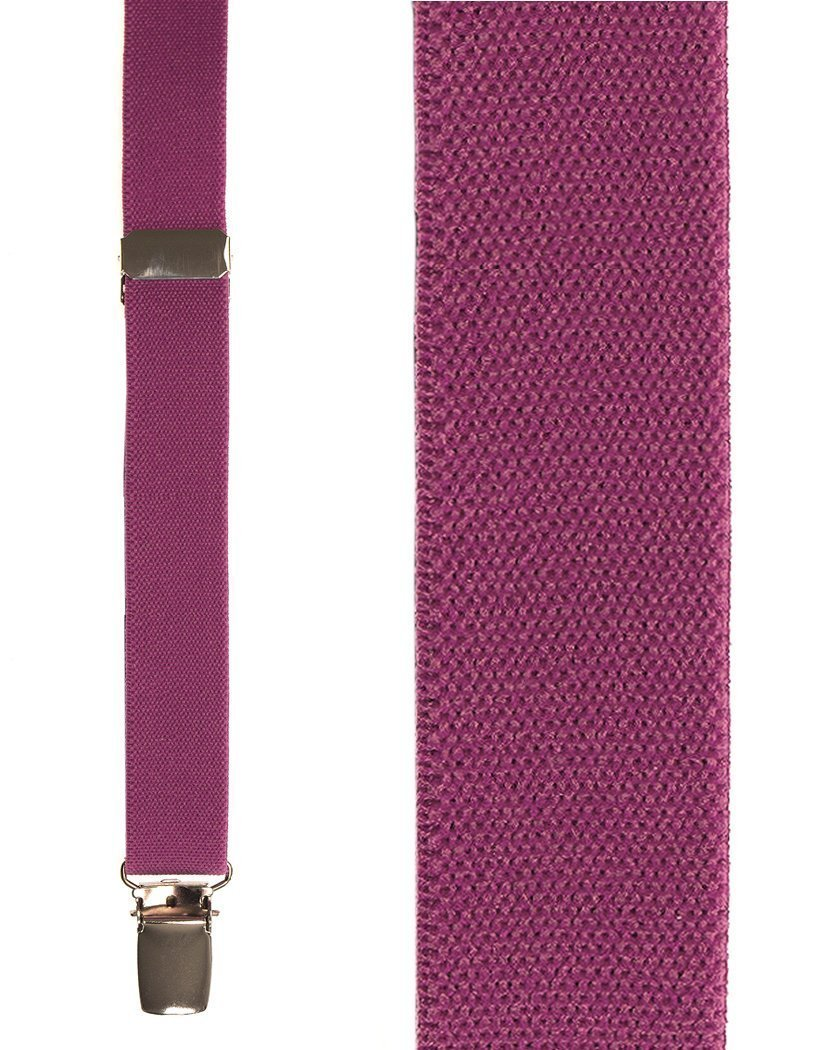 Kids Dark Pink Oxford Suspenders