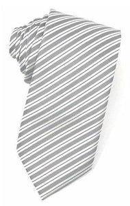 Grey Newton Stripe Necktie