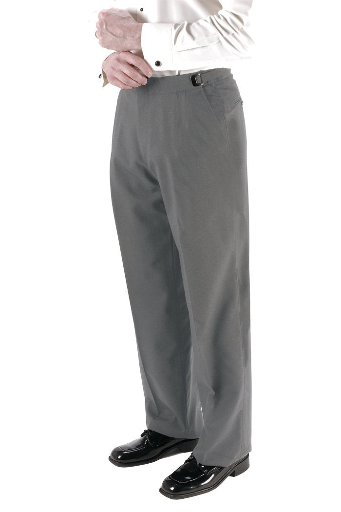 Heather Grey Super 150's Luxury Viscose Blend Suit Pants (No Belt Loops)