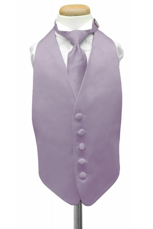 Heather Luxury Satin Kids Tuxedo Vest