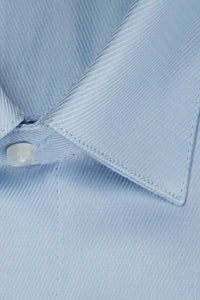 """Jamison"" Blue Twill Spread Collar Dress Shirt"