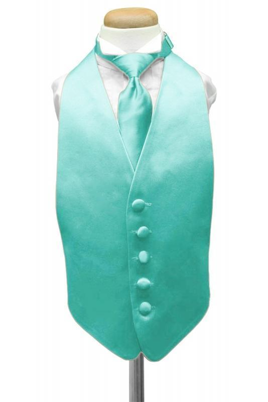 Mermaid Luxury Satin Kids Tuxedo Vest