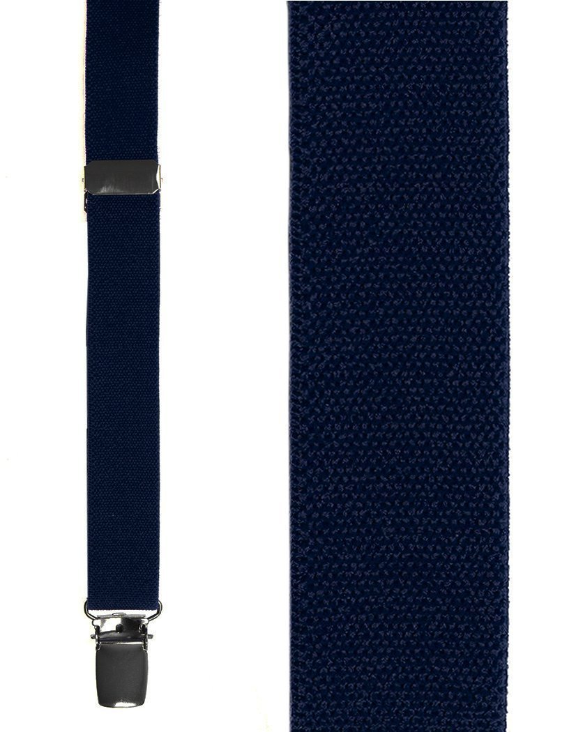 Kids Navy Oxford Suspenders