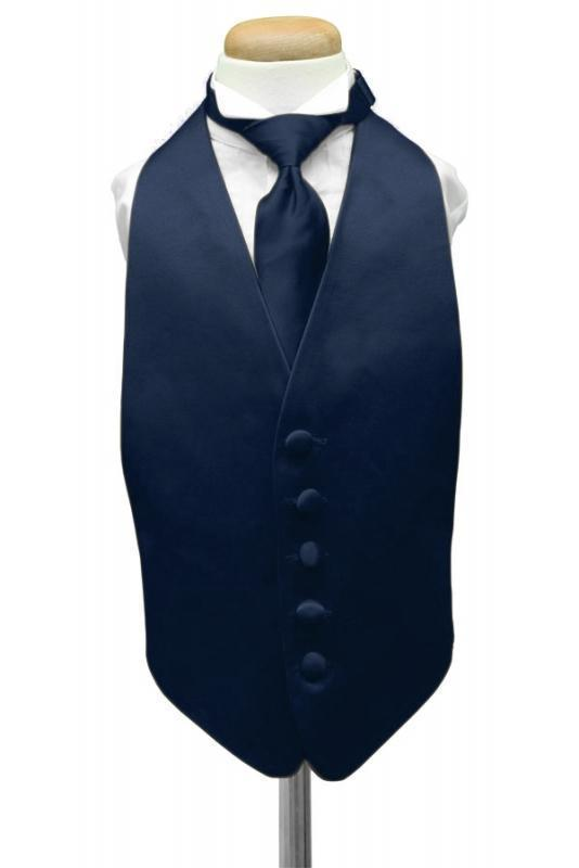 Peacock Luxury Satin Kids Tuxedo Vest