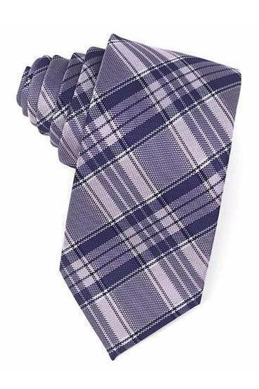 Purple Madison Plaid Necktie