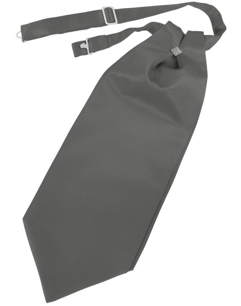 Charcoal Luxury Satin Cravat