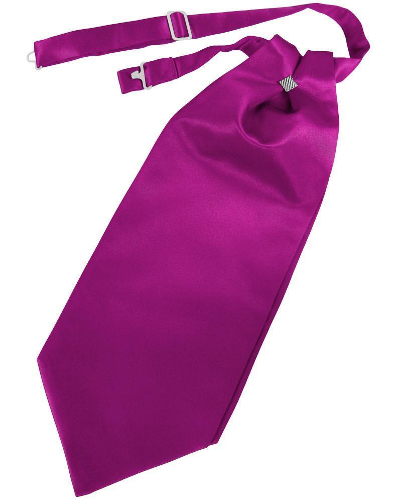 Fuchsia Luxury Satin Cravat