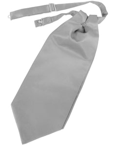 Silver Luxury Satin Cravat