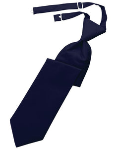 Navy Solid Twill Kids Necktie