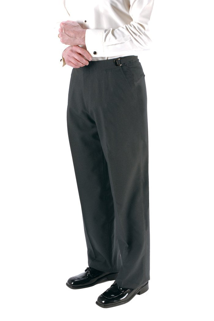 Steel Grey Super 150's Luxury Viscose Blend Suit Pants (No Belt Loops)
