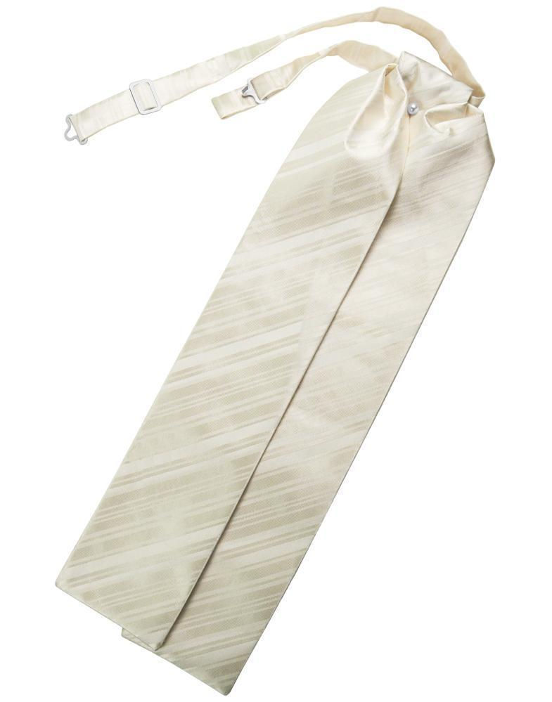 Ivory Striped Satin Ascot