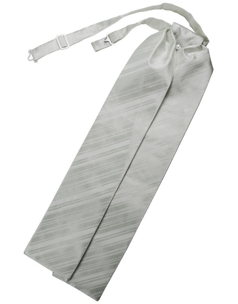 Platinum Striped Satin Ascot
