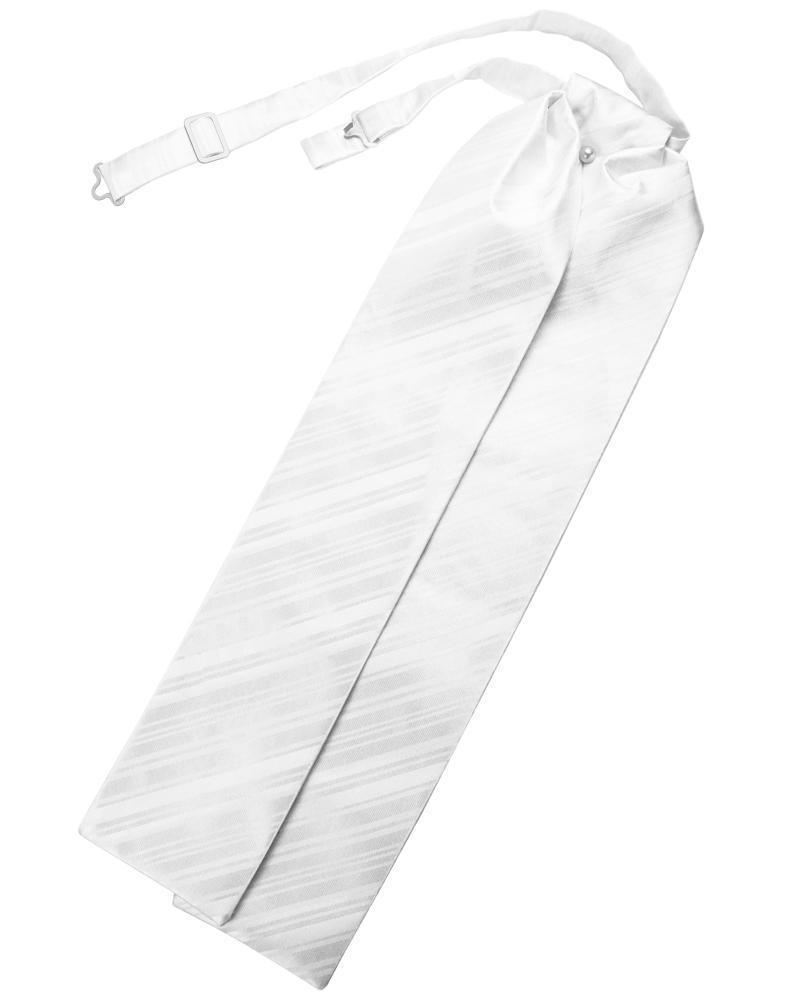 White Striped Satin Ascot