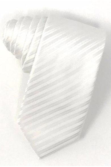 White Newton Stripe Necktie