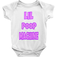White Girls Lil Poop Machine Onesies